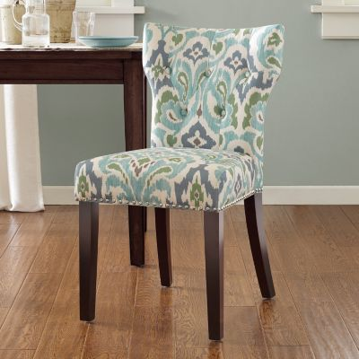 Luxury Madison Park Emilia Tufted Back Dining Chair patterned parsons chairs