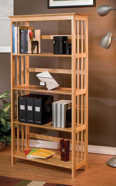 Remove the stake and shelf your books with solid wood bookshelf