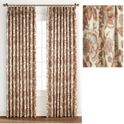 Luxury ... Monique Foamback Pinch Pleated Drapes - Coral ... extra wide pinch pleat drapes