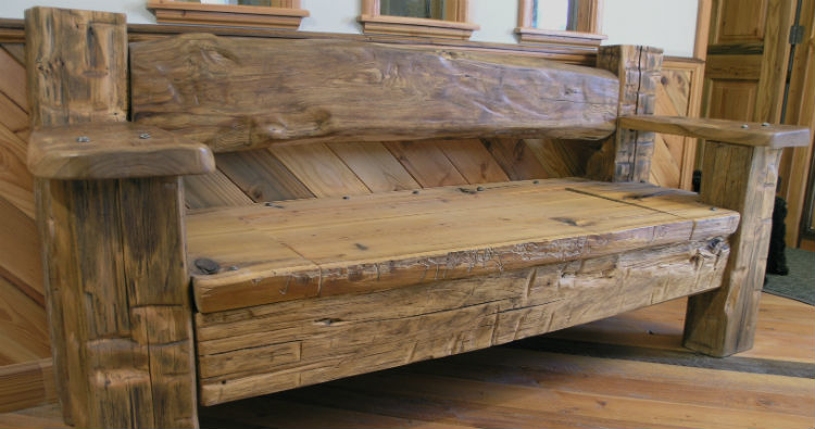 Luxury Reclaimed Wood Bench recycled wood furniture