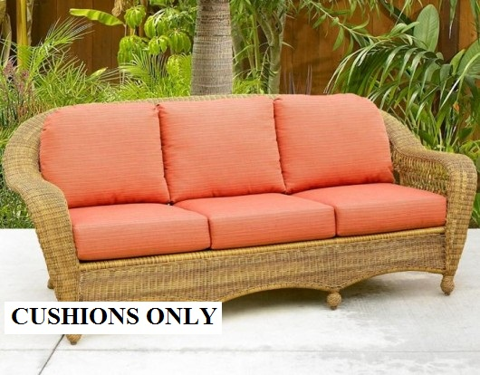 Luxury Sofa Cushions - NC6624DS 3 seats: 22 replacement cushions for wicker furniture