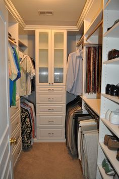 Luxury space maximizing solution for small walk-in master closet small walk in closet ideas