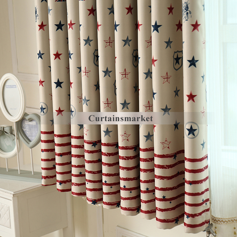 Luxury ... Striped and Star Patterns Nursery blackout curtains ... nursery blackout curtains