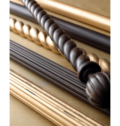 Luxury Traditional Curtain Rods by Horchow wood curtain rods