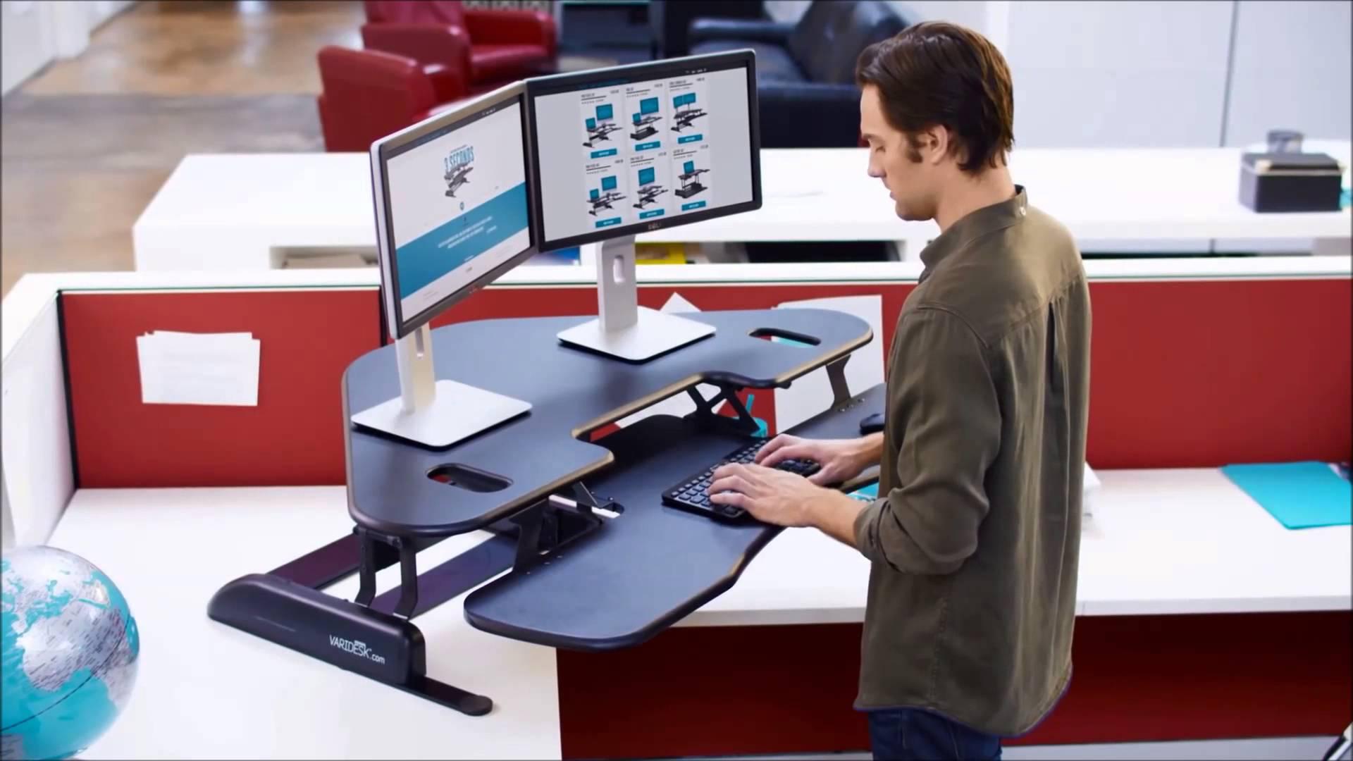 Luxury Varidesk Cube Corner 48 Sit Stand Desk Converter sit stand desk converter