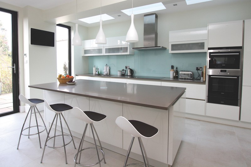Luxury white ... white kitchen work tops