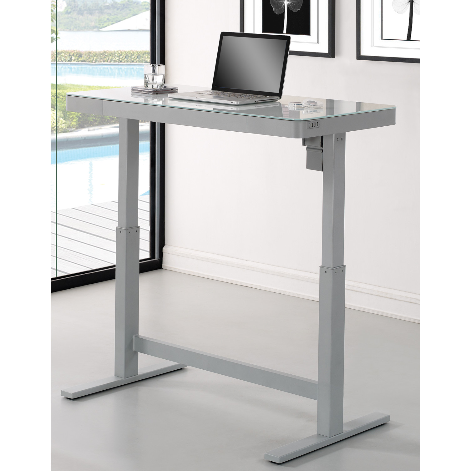 Luxury Wildon Home u0026reg; Adjustable Standing Desk adjustable standing desk