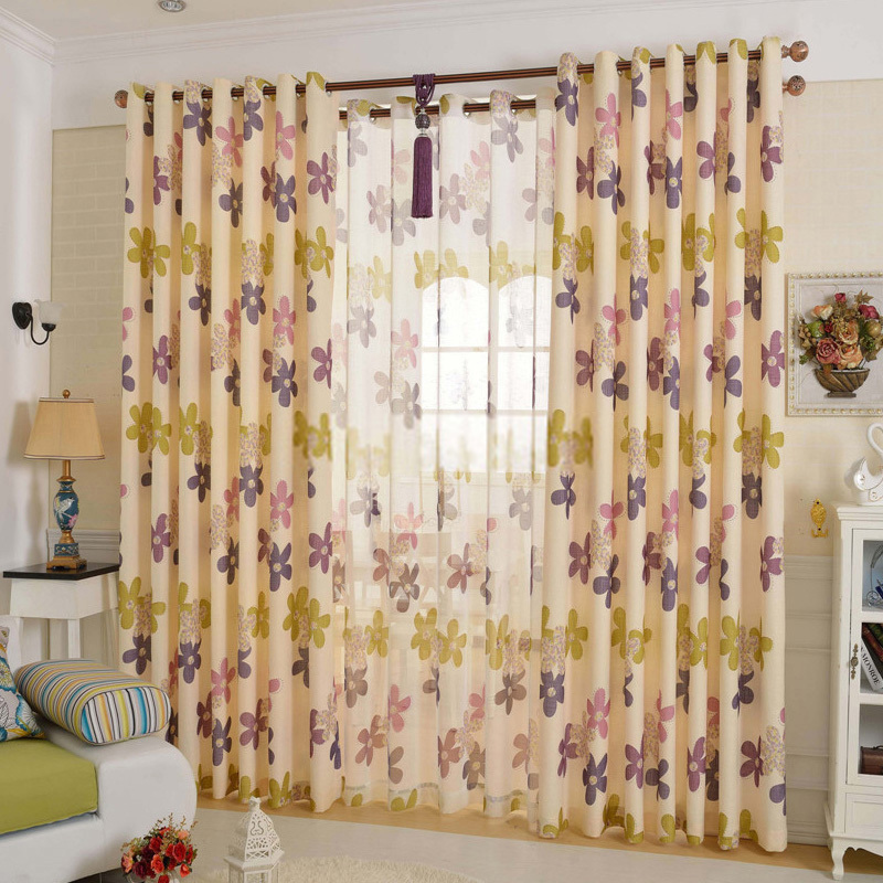 Master Ameircan Modern Style Floral Pattern Blackout Curtains floral pattern curtains