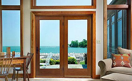 Master Classic-Craft Oak french patio doors