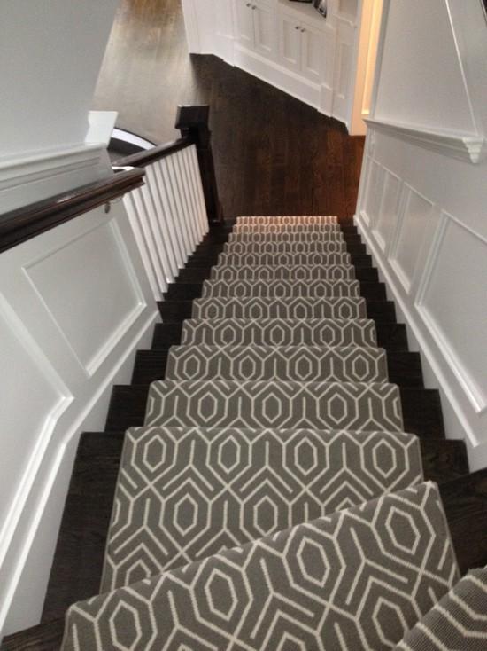 Master Geometric Stair Runner view full size geometric stair runner