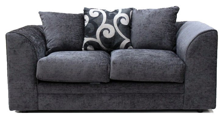 Master Jackson Chenille Grey Fabric 2 Seater ... grey chenille sofa