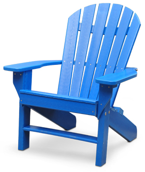 Master Model PB-ADSEA | Seaside Commercial Grade Recycled Plastic Adirondack Chair  (Blue) plastic adirondack chairs
