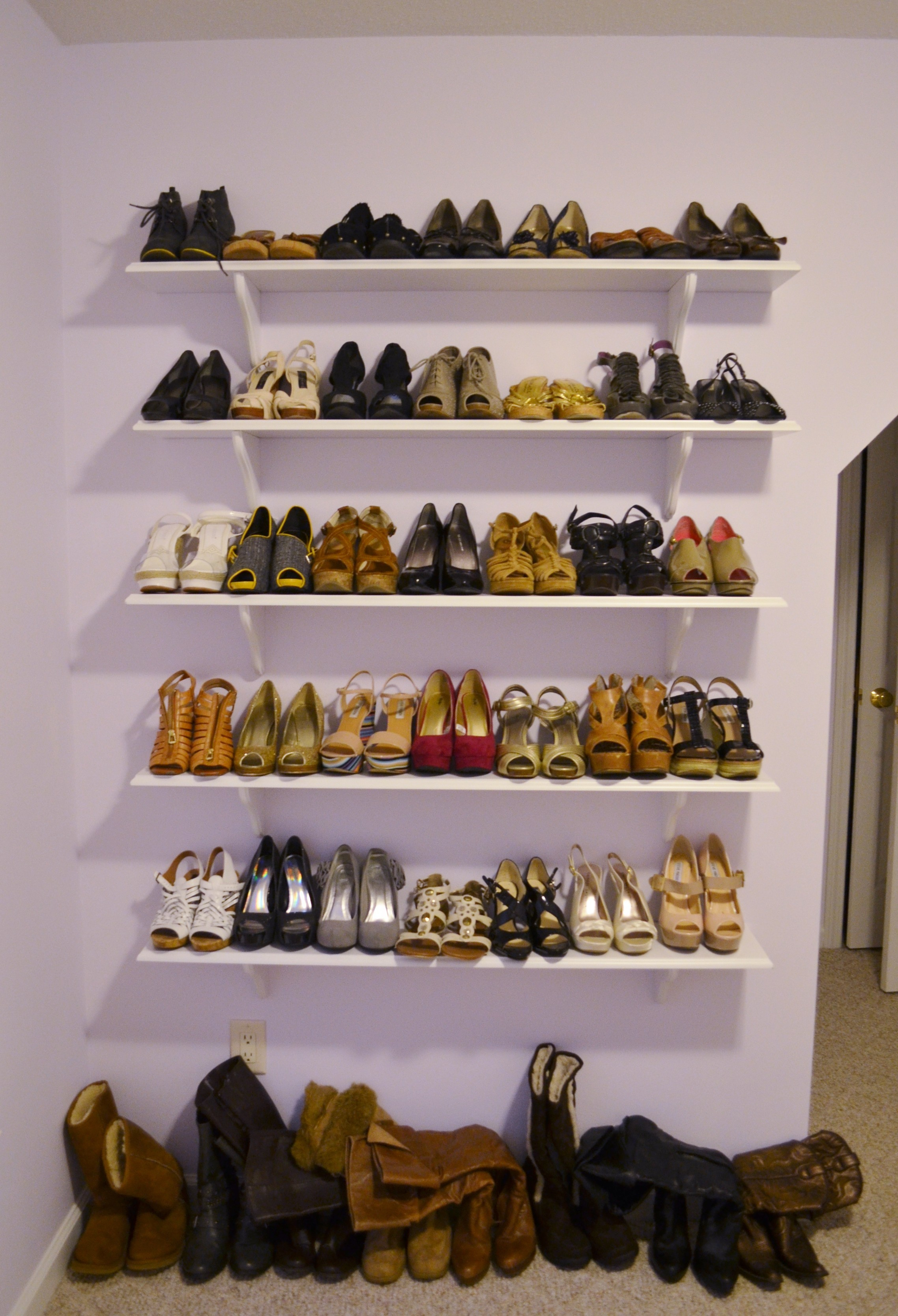 Master Shoe Racks for Closets wall mounted shoe racks for closets