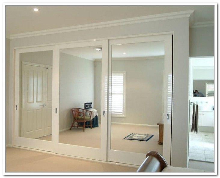 Chic mirrored closet doors sliding photo - 3 mirror closet sliding doors