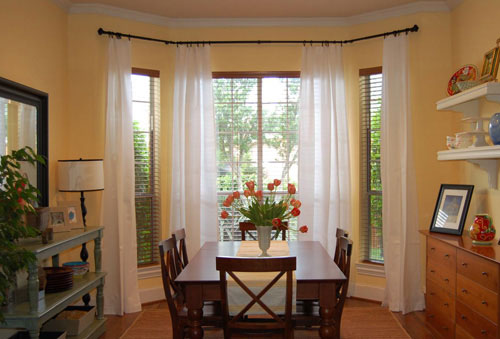 Modern bay-window-curtains-before-and-after-how-to- kitchen bay window curtains