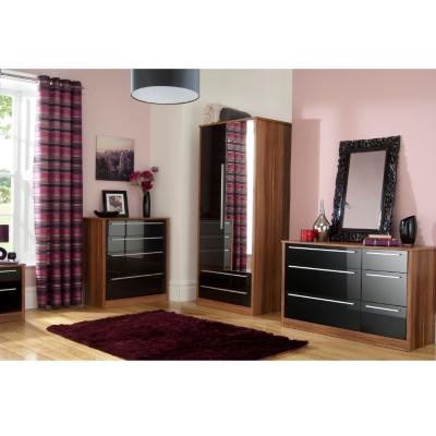 Modern Black Gloss Bedroom Furniture Sets Duashadi walnut black gloss bedroom furniture