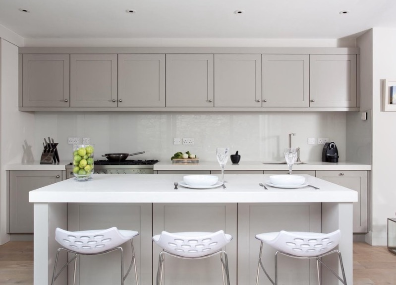 Best Collect this idea painted cabinets modern classic kitchen design ideas