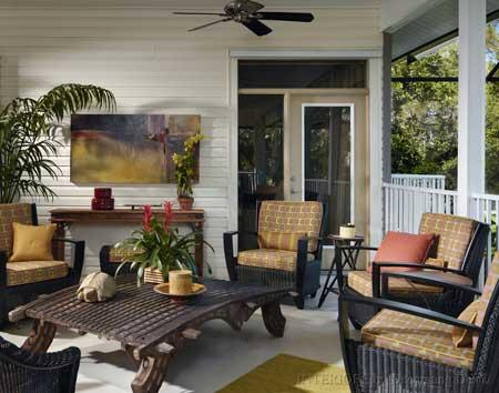 Modern Furnished Porch front porch furniture sets