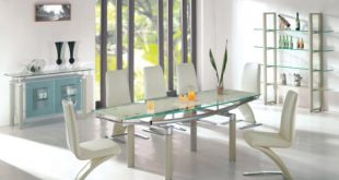 Amazing View in gallery modern glass dining table sets