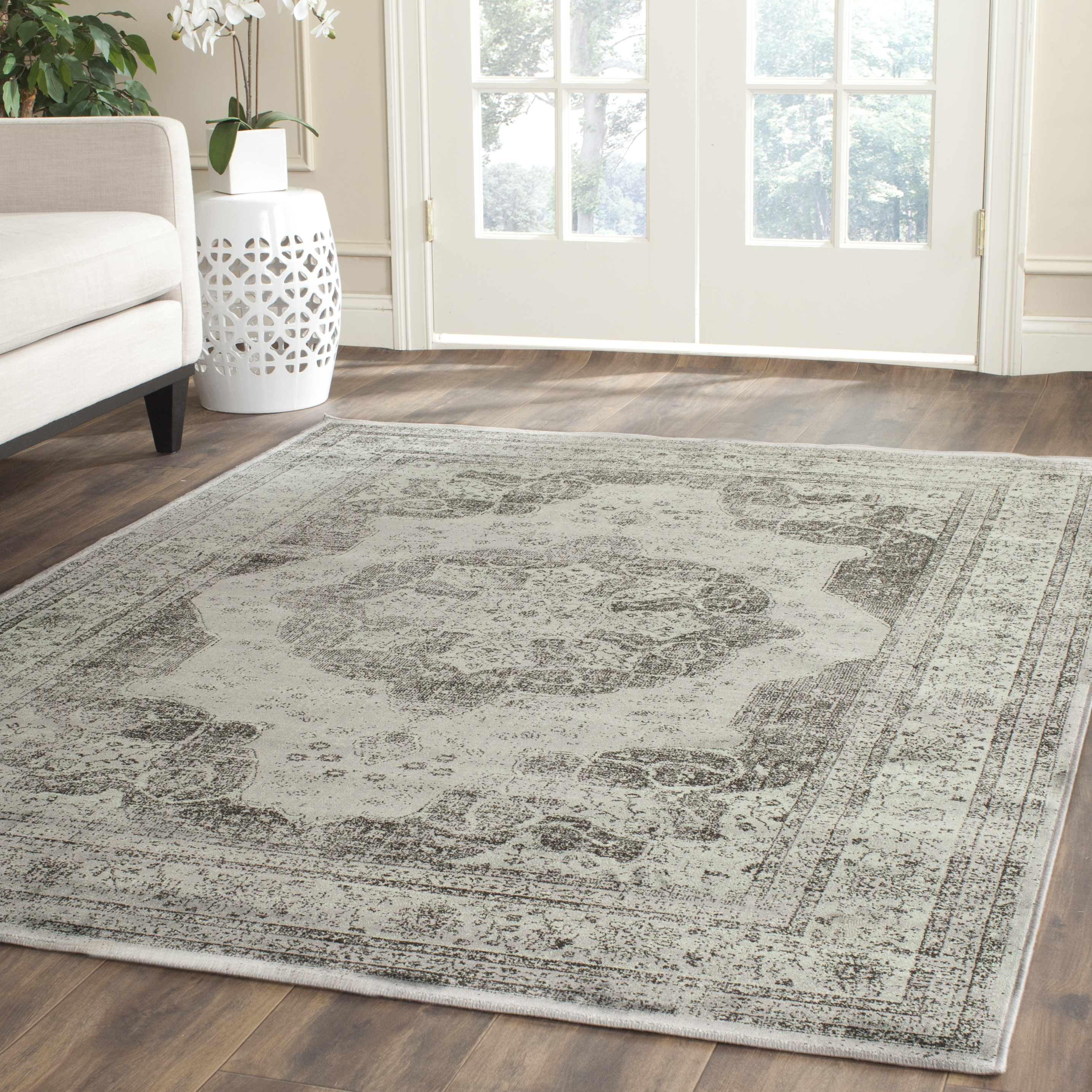 Modern Grey-Safavieh-Power-Loomed-Vintage-Area-Rugs-VTG158- vintage area rugs