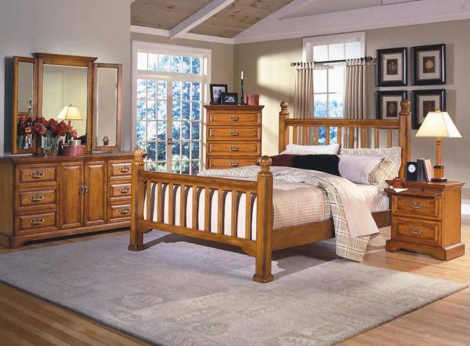 Modern Honey Creek Bedroom Set honey oak bedroom furniture