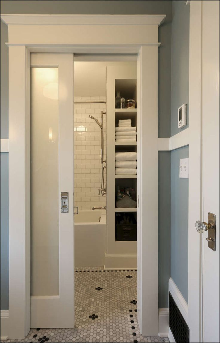 Modern Julie: if you keep the powder room and master bath, you could sliding pocket doors