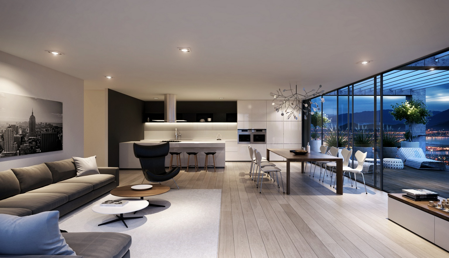 Unique Spacious Modern Living Room Interiors modern large living room designs