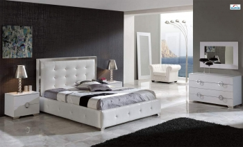 Modern Made in Spain Leather Luxury Contemporary Furniture Set with Extra Storage contemporary italian bedroom furniture