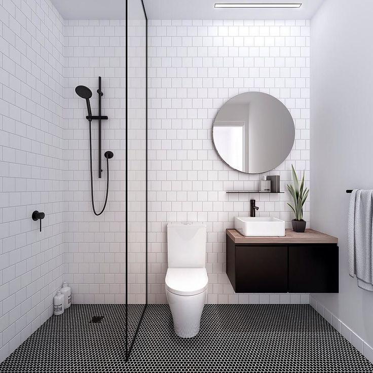 Modern master bath | Fab bathroom with a masculine edge simple small bathroom designs