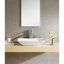 Modern Modern Vitreous Rectangular Vessel Bathroom Sink modern bathroom sinks