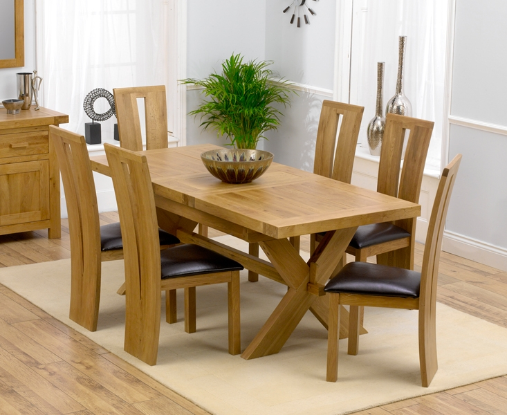 Modern Oak Kitchen Table With 6 Chairs Best Ideas 2017 extending dining table and 6 chairs
