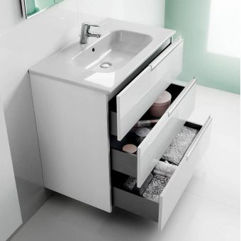 Modern Roca Victoria-N 3 Drawer Vanity Unit with Basin roca bathroom vanity units