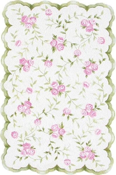 Modern Rug Market Kids Floral 31033 Sweet Rose Pink/Green Area Rug pink floral area rug