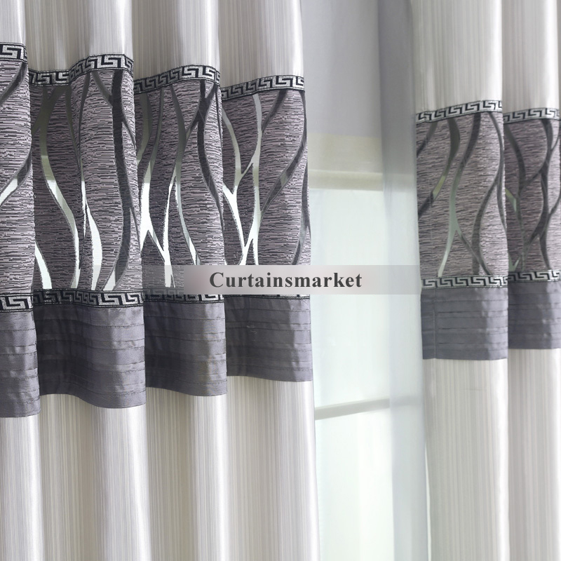 Modern ... Silver Grey Color Useful Faux silk blackout curtains ... silver grey curtains