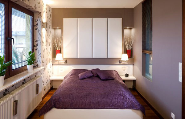 Images of View in gallery Purple brings sophistication to the room modern small bedroom designs