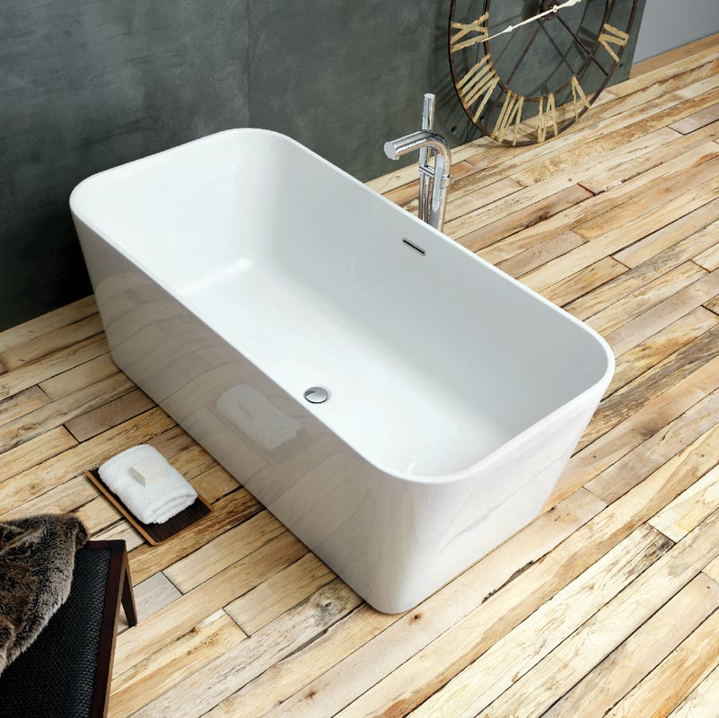 Modern Waters Baths Pool 1500mm x 750mm Double Ended Small Freestanding Bath i-Line small double ended baths