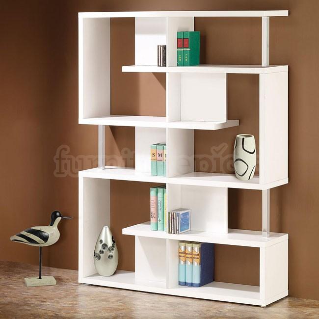 Cute Modern White Bookcase modern white bookshelf