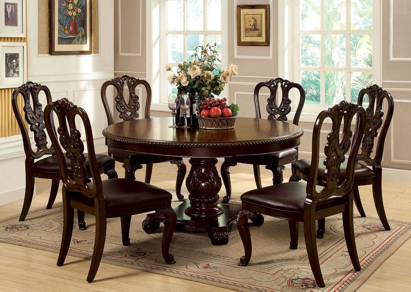 New Dallas Designer Furniture Harris Formal Dining Room Set With formal round dining room sets