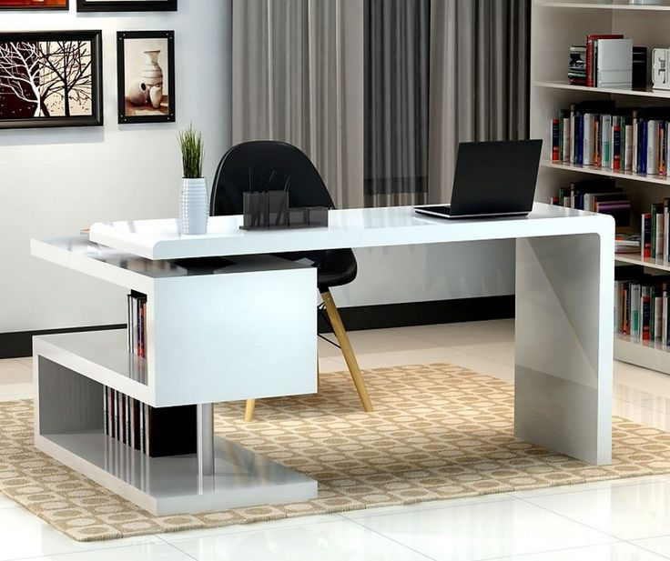 New Futuristický koncept pro Modern Office Desk, který je laděn do bílé a modern desks for home