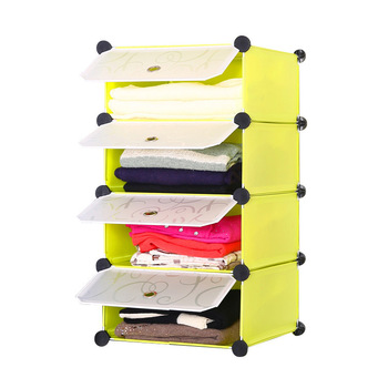 New Get Quotations · Clothes closet shelving storage rack cabinet sub-  compartment plastic racks for clothes