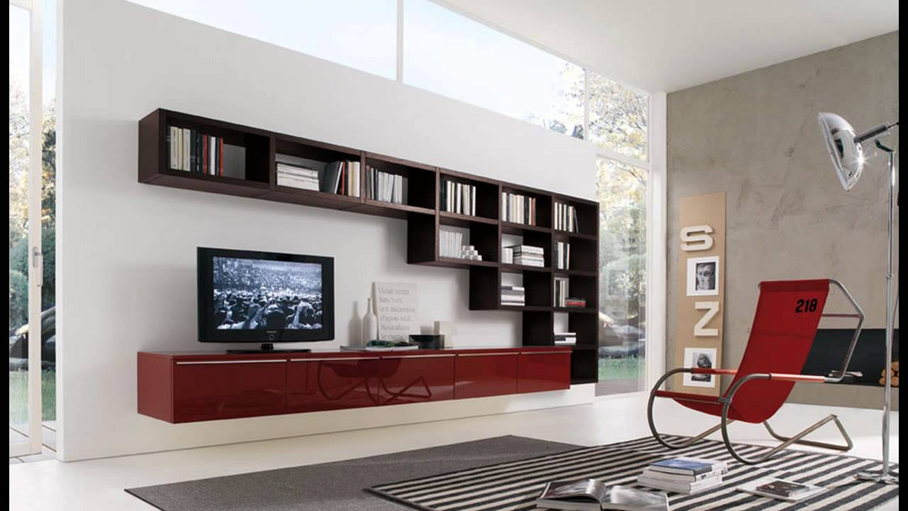 New Modern Living Room Wall Units With Storage Inspiration YouTube - Designer wall wall shelving units for living room