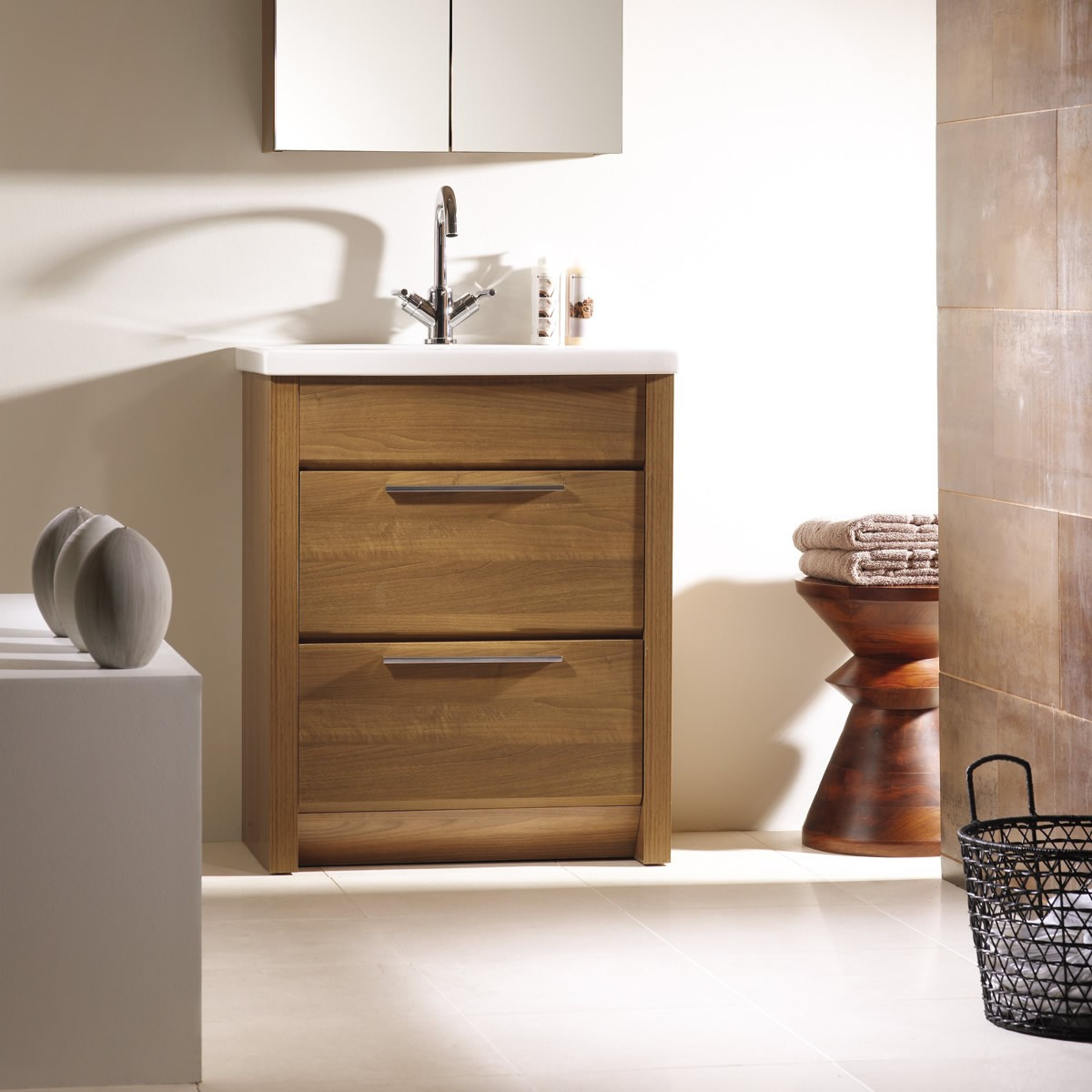 New Roper Rhodes Kato 700mm Freestanding Bathroom Vanity Walnut freestanding vanity unit