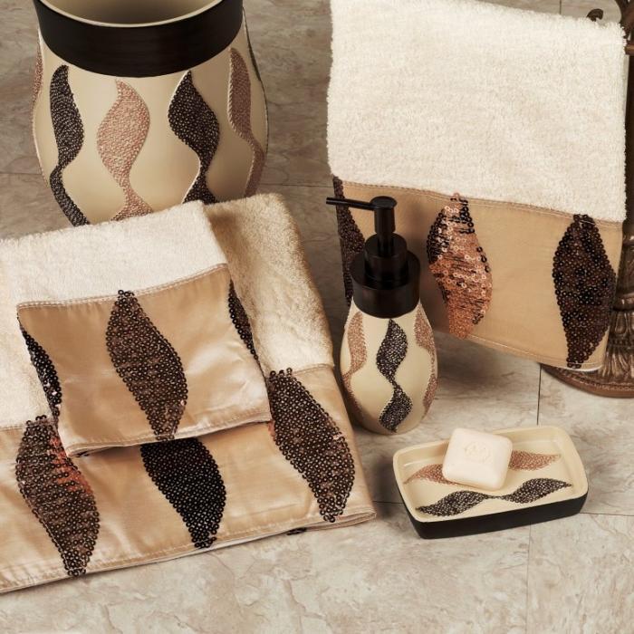 New Shimmer Sequins Elegant Bath Set complete bathroom sets