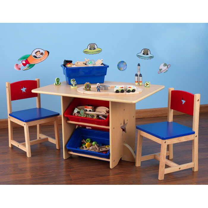New Star Kids 5 Piece Table and Chair Set toddler wooden table and chairs
