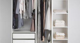 Luxury Open wardrobe IKEA small white open wardrobe storage