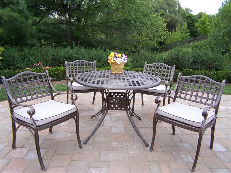 Stunning Patio Dining Set On Outdoor Patio Furniture With Trend Metal Patio outdoor metal furniture sets
