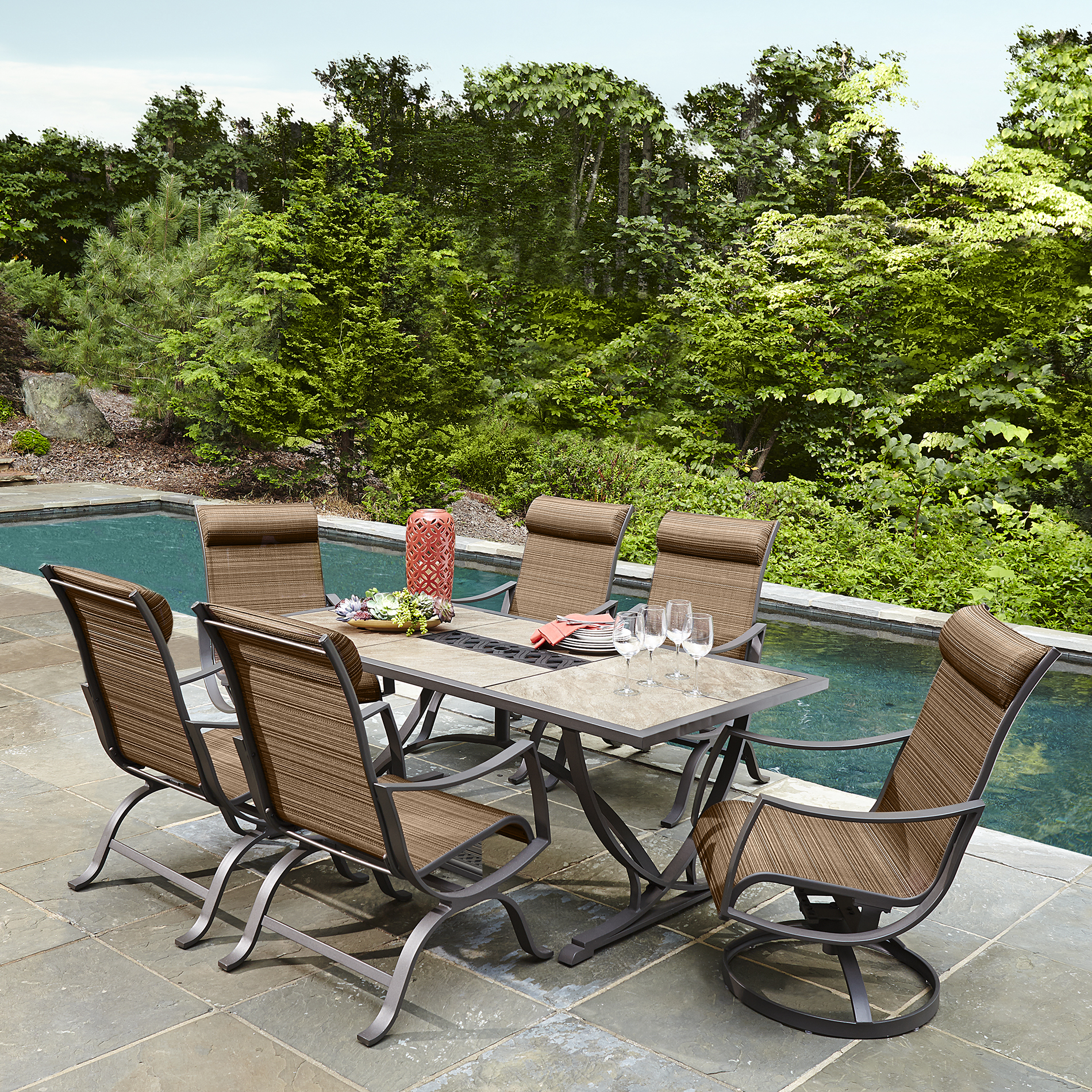 Cool Ty Pennington Style Palmetto 7 Piece Patio Dining Set - Sears outdoor patio dining sets
