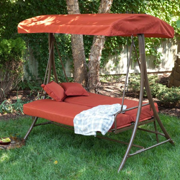 Stunning patio swing 2 patio glider with canopy