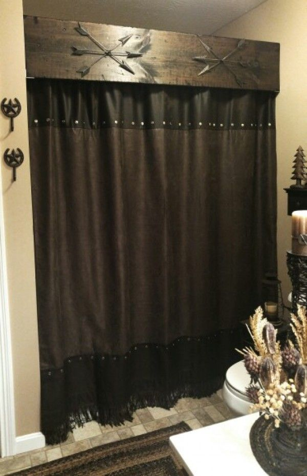 Photos of 20 Gorgeous DIY Rustic Bathroom Decor Ideas You Should Try at Home rustic shower curtains