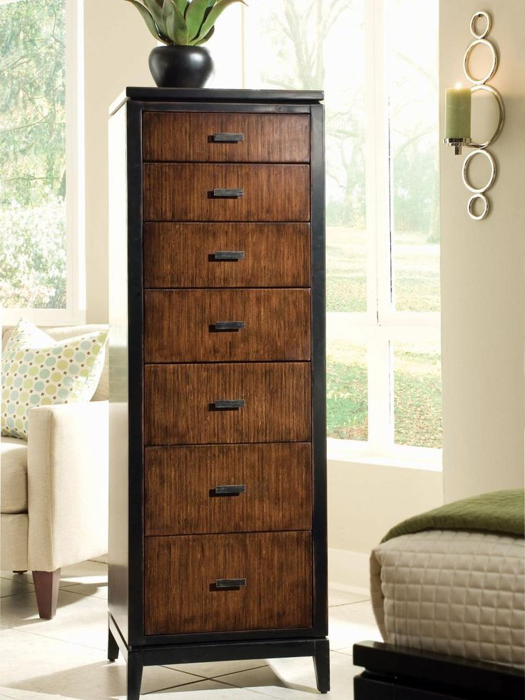 Photos of A lingerie chest or semanier is a tall and narrow chest of tall narrow chest of drawers